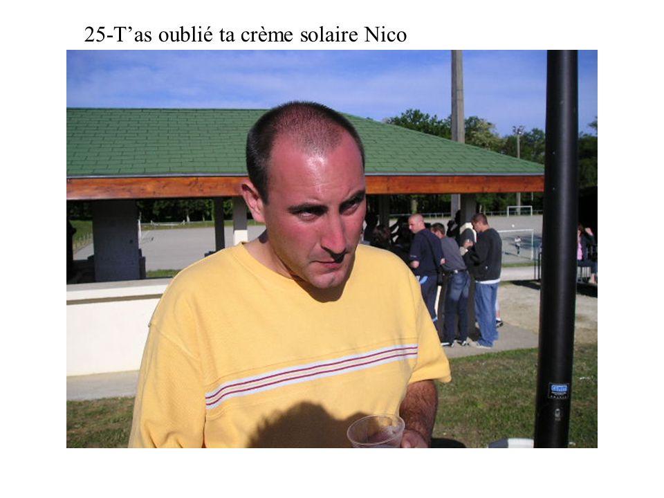25-Tas oublié ta crème solaire Nico