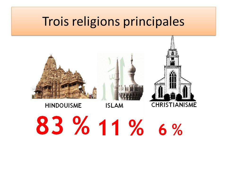 Trois religions principales