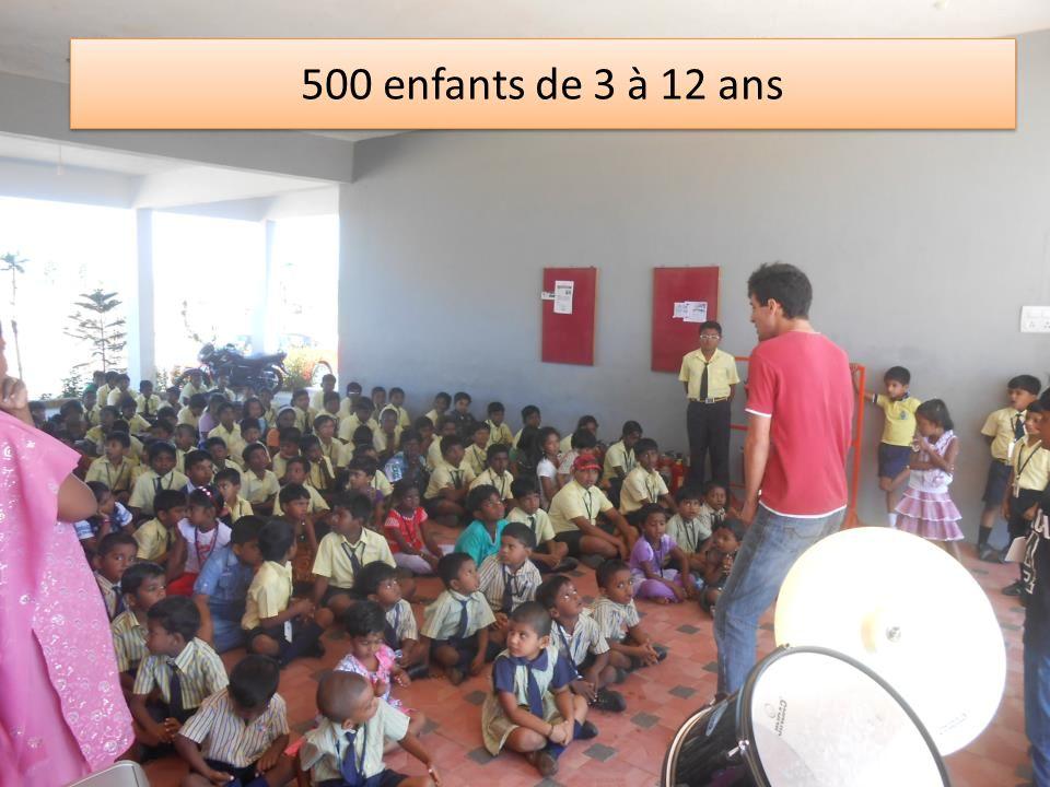 500 enfants de 3 à 12 ans