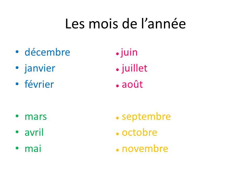 Pour communiquer To talk about the date: – Quelle est la date.