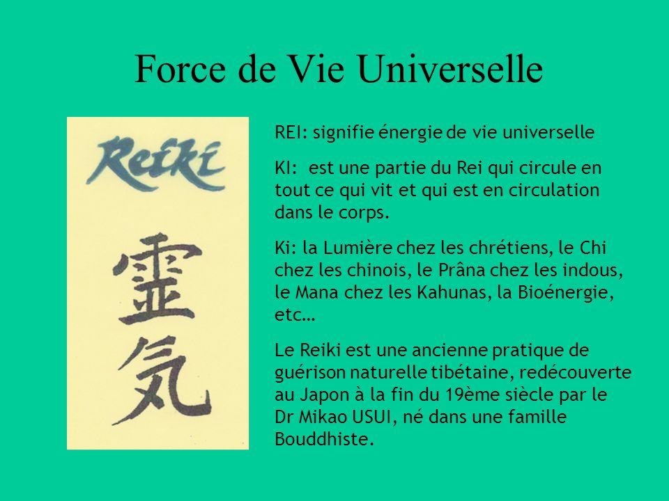 Force de Vie Universelle M nmmlM nmml nckxckxmcéxmcéx nckxckxmcéxmcéx REI: signifie énergie de vie universelle KI: est une partie du Rei qui circule e
