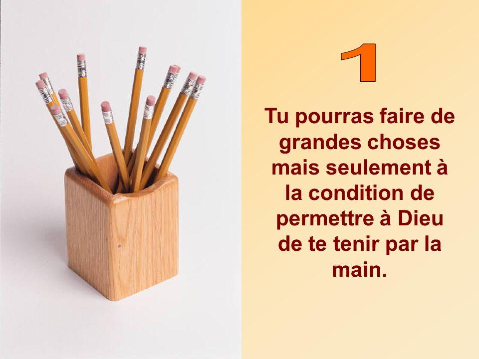 Maintenant, mets-toi à la place du crayon; noublie jamais les cinq règles, et tu deviendras toi aussi une meilleure personne.