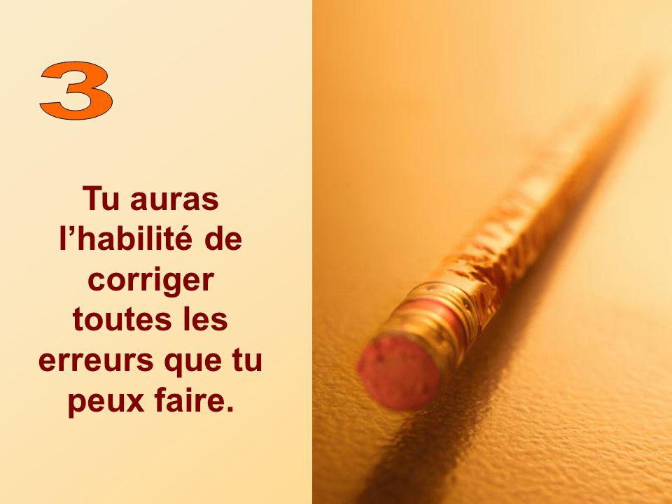 De temps en temps, tu devras supporter un douleureux aiguisage, mais il est nécessaire si tu veux devenir un meilleur crayon.