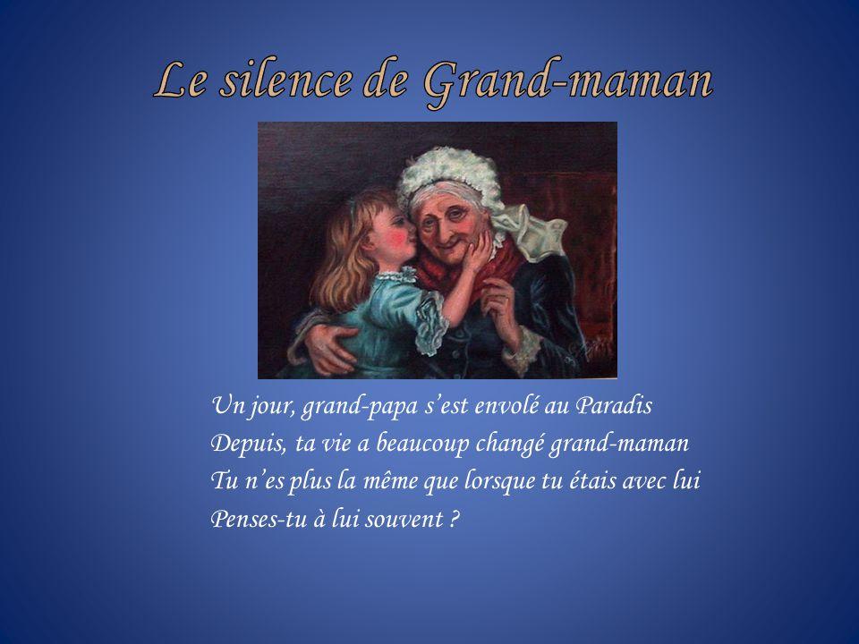Je taime Grand-maman, Catherine Photos et poème de Pierrette Beaulieu Toile sujet est de Préville (Grand-mère) Trame sonore de Zamphir, Brahms Lullaby
