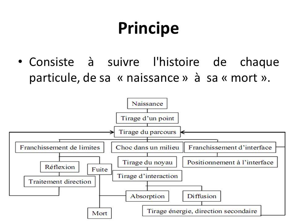 Principe Consiste à suivre l'histoire de chaque particule, de sa « naissance » à sa « mort ».