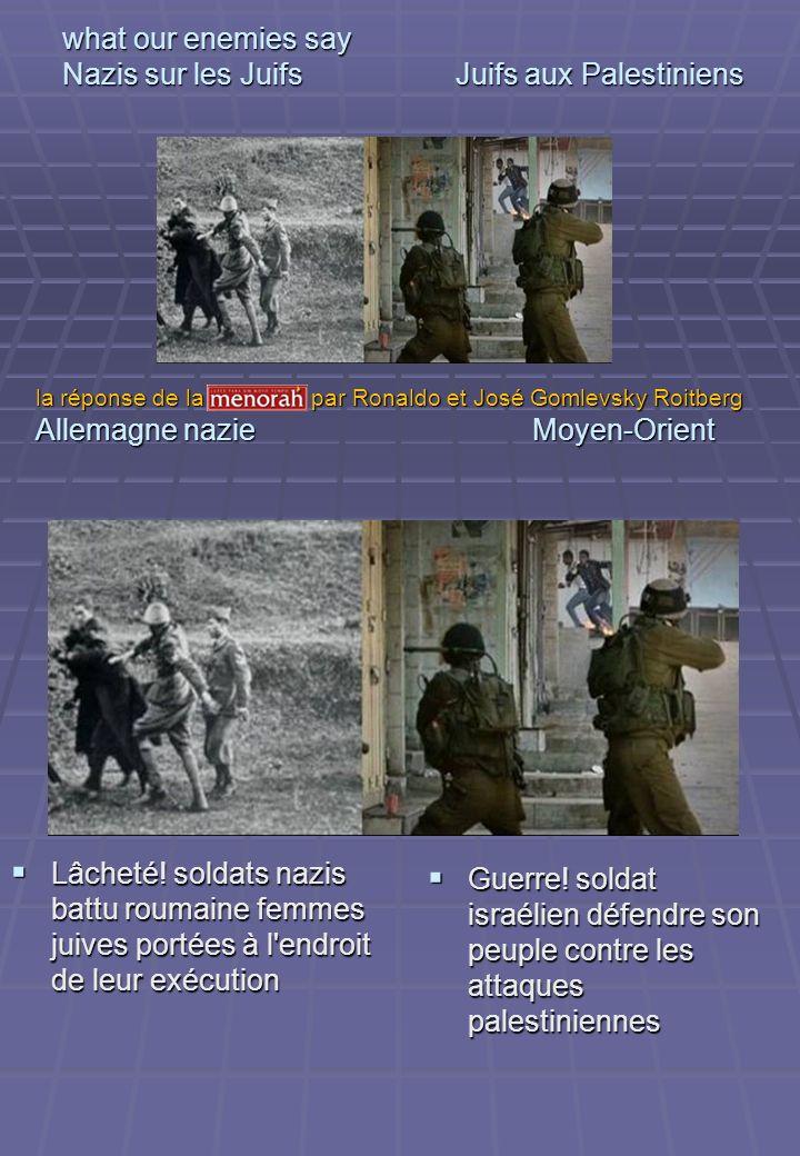 what our enemies say Nazis sur les Juifs Juifs aux Palestiniens Lâcheté! soldats nazis battu roumaine femmes juives portées à l'endroit de leur exécut