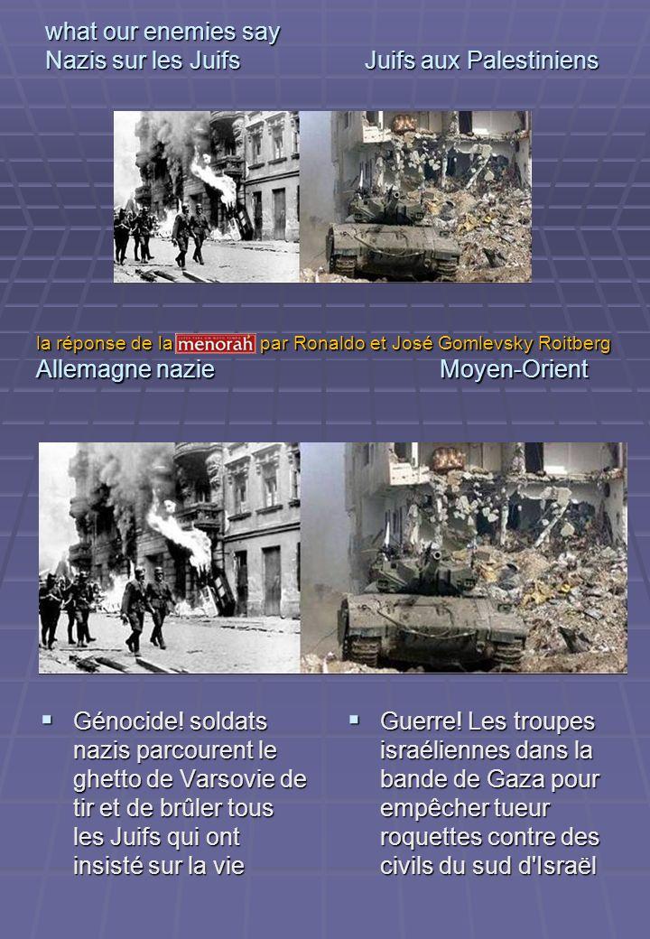 what our enemies say Nazis sur les Juifs Juifs aux Palestiniens Génocide! soldats nazis parcourent le ghetto de Varsovie de tir et de brûler tous les