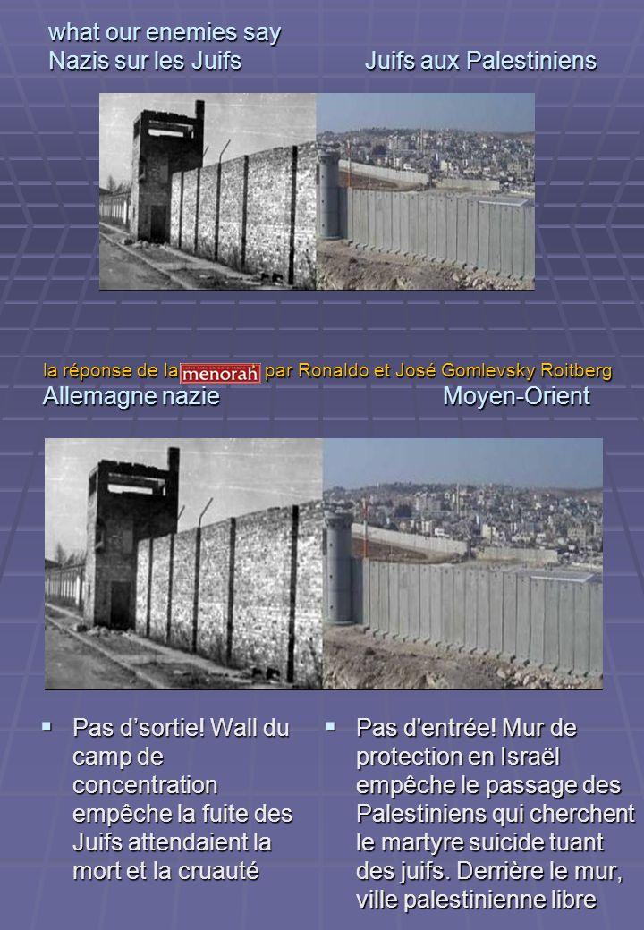 ce que nos ennemis disent Nazis sur les Juifs Juifs aux Palestiniens Humiliation.