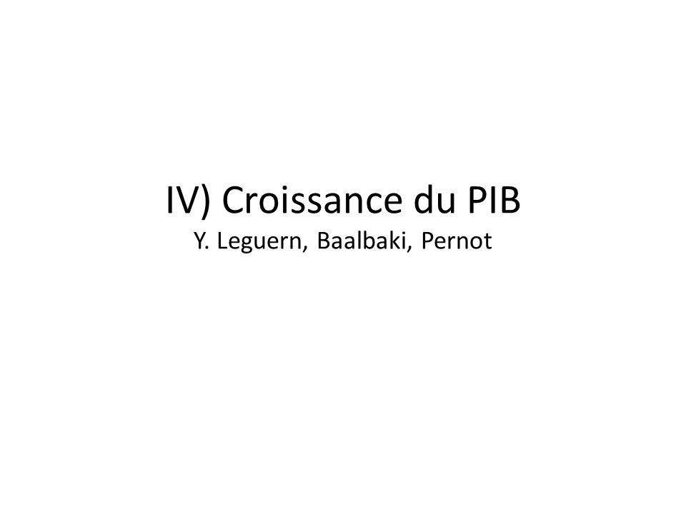 IV) Croissance du PIB Y. Leguern, Baalbaki, Pernot