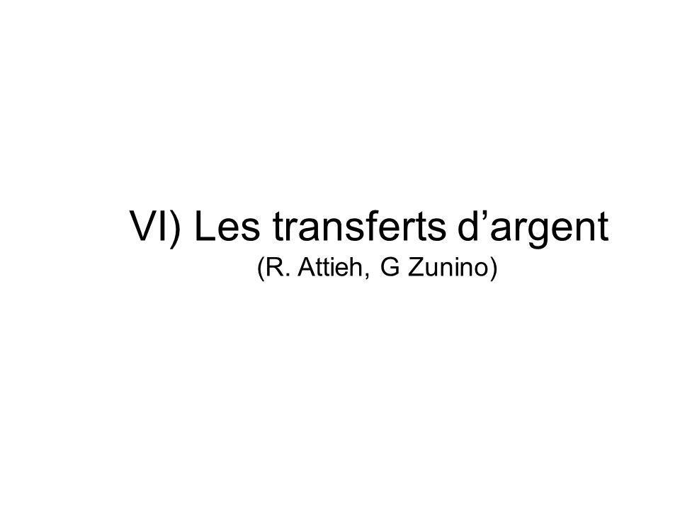 VI) Les transferts dargent (R. Attieh, G Zunino)