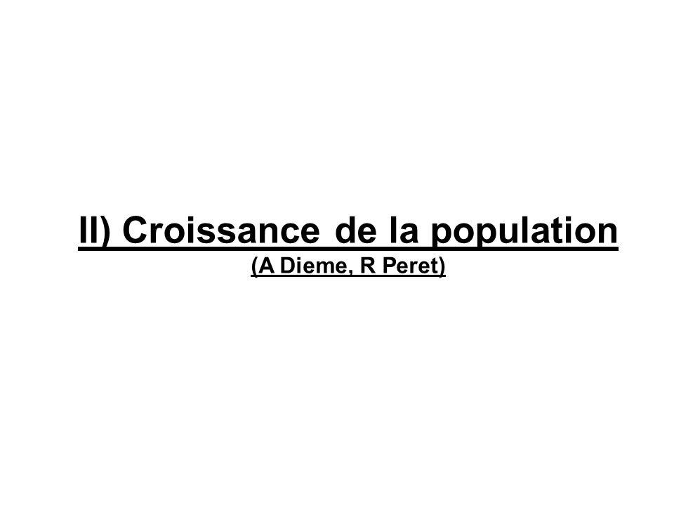 II) Croissance de la population (A Dieme, R Peret)