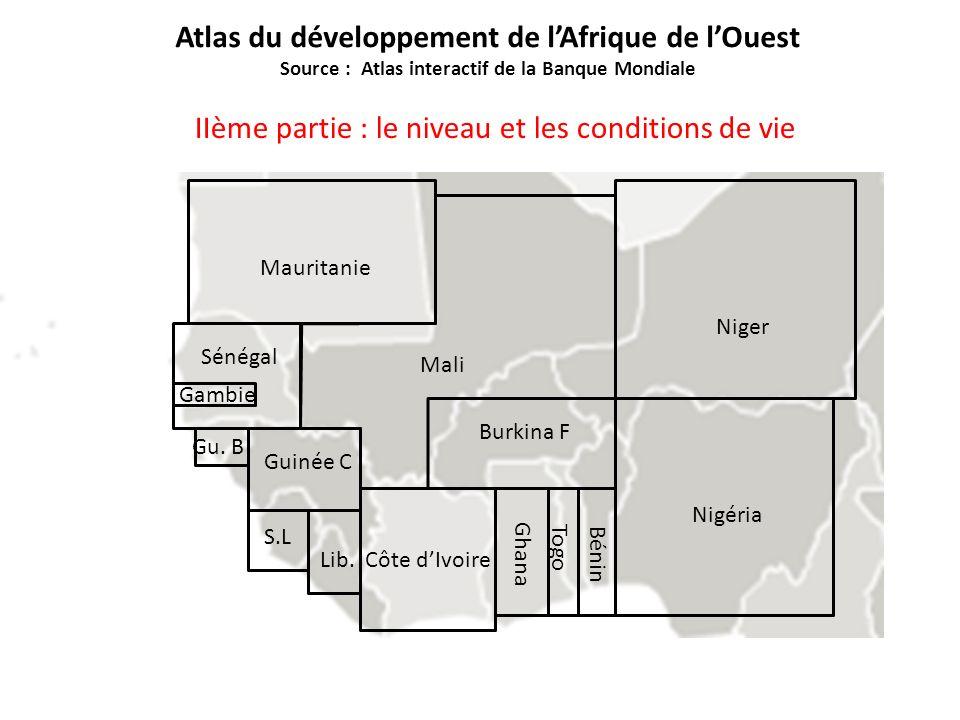 Nigéria Mauritanie Gambie Guinée C Ghana Sénégal Côte dIvoire Burkina F Niger Mali Bénin Togo Gu.