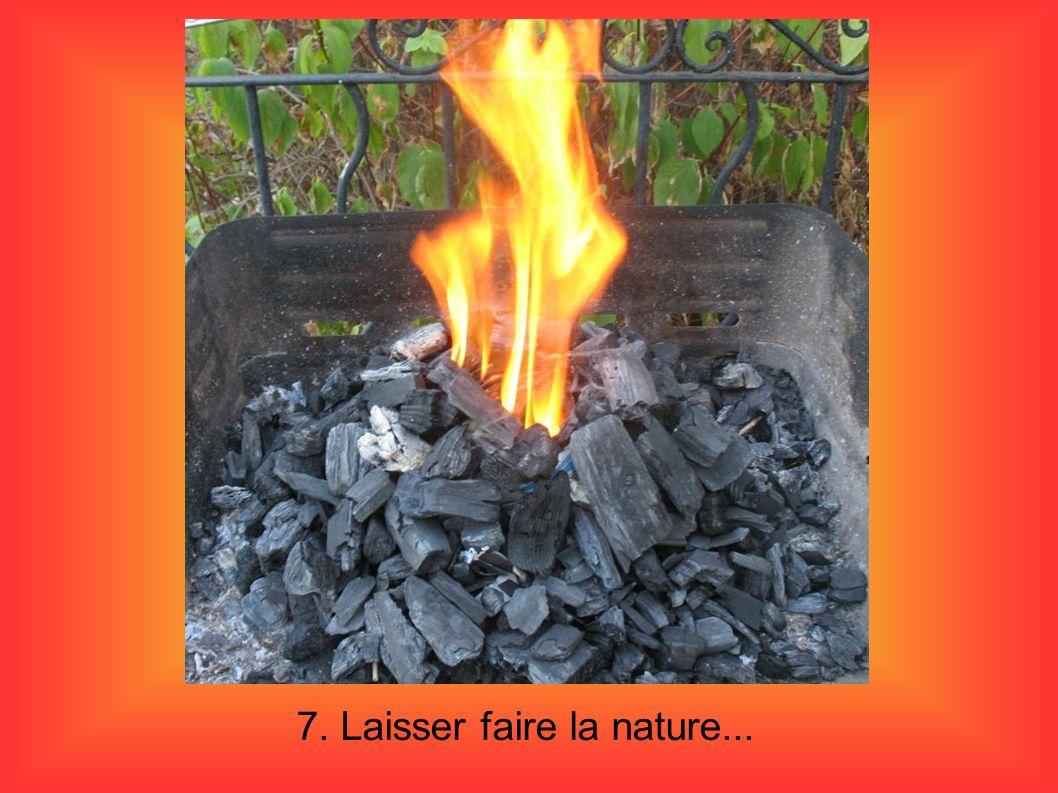 8.le tas de charbon s effondre en moins de 5 minutes sur le papier incandescent.