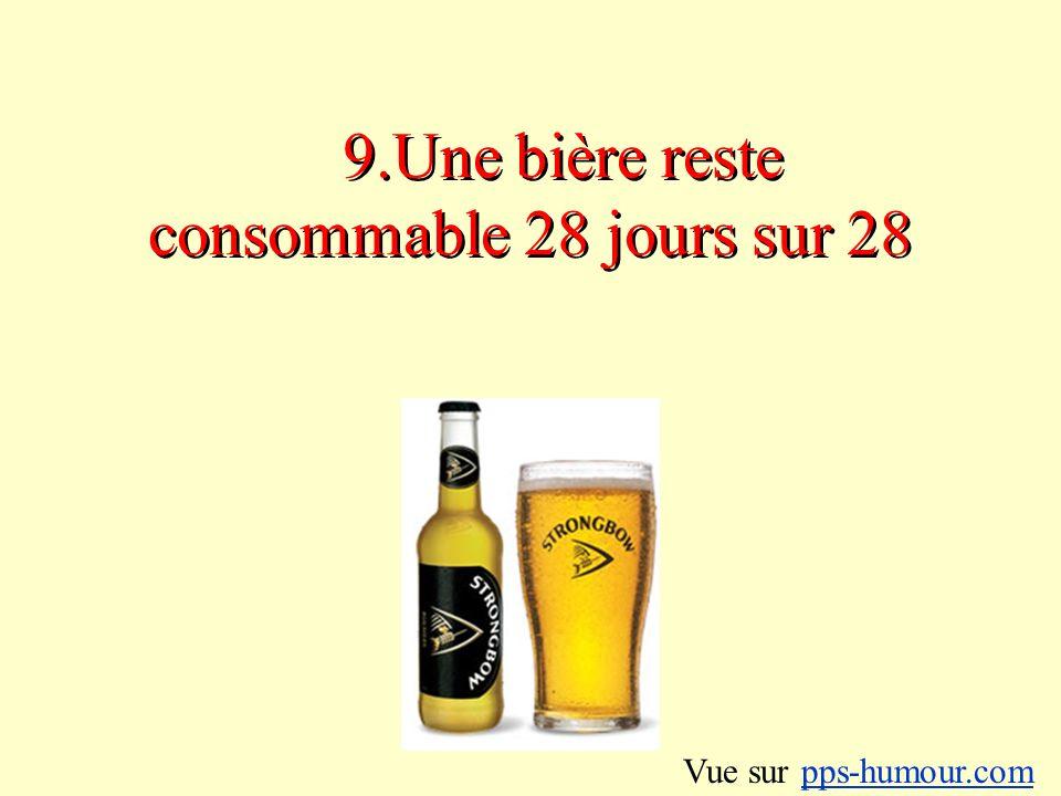 9.Une bière reste consommable 28 jours sur 28 Vue sur pps-humour.compps-humour.com