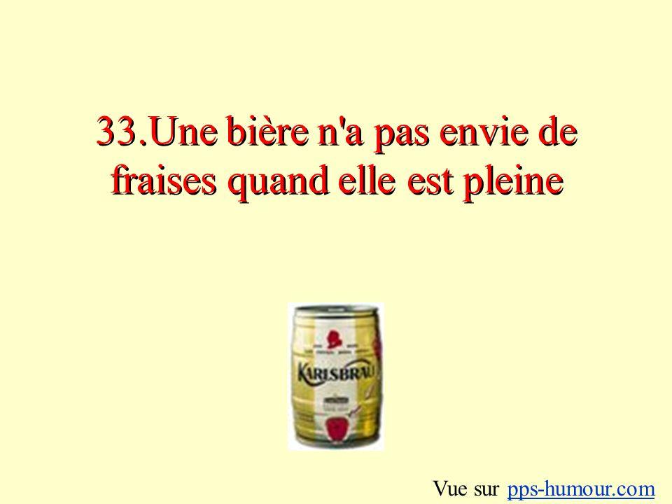 33.Une bière n a pas envie de fraises quand elle est pleine Vue sur pps-humour.compps-humour.com