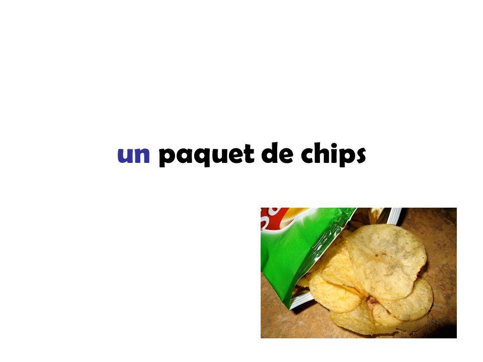 un paquet de chips