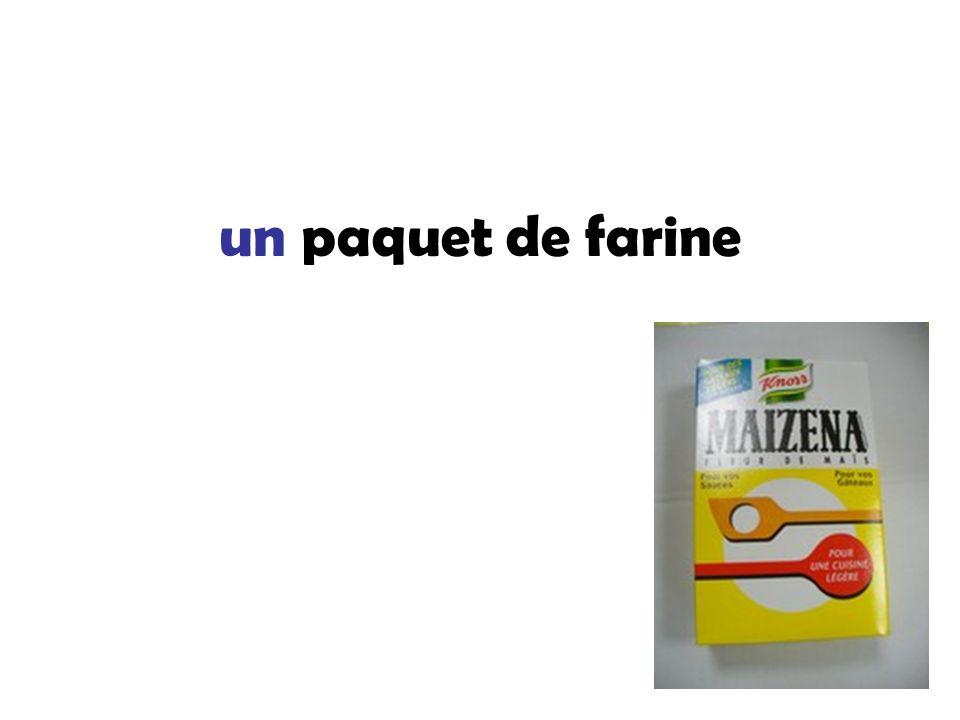 un paquet de farine