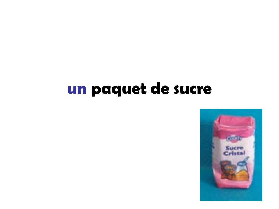 un paquet de sucre