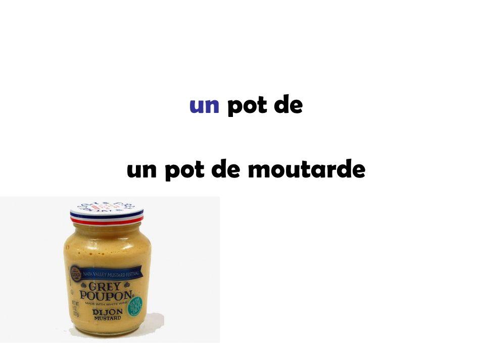 un pot de un pot de moutarde