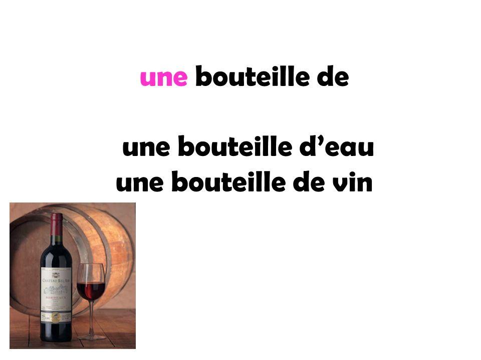 une bouteille de une bouteille deau une bouteille de vin