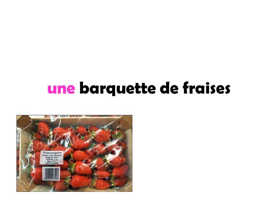 une barquette de fraises