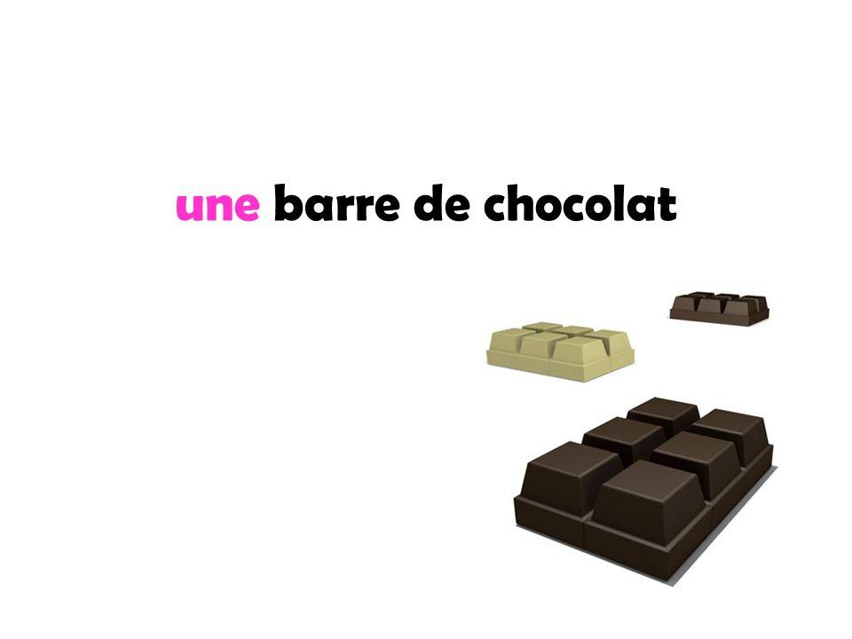 une barre de chocolat