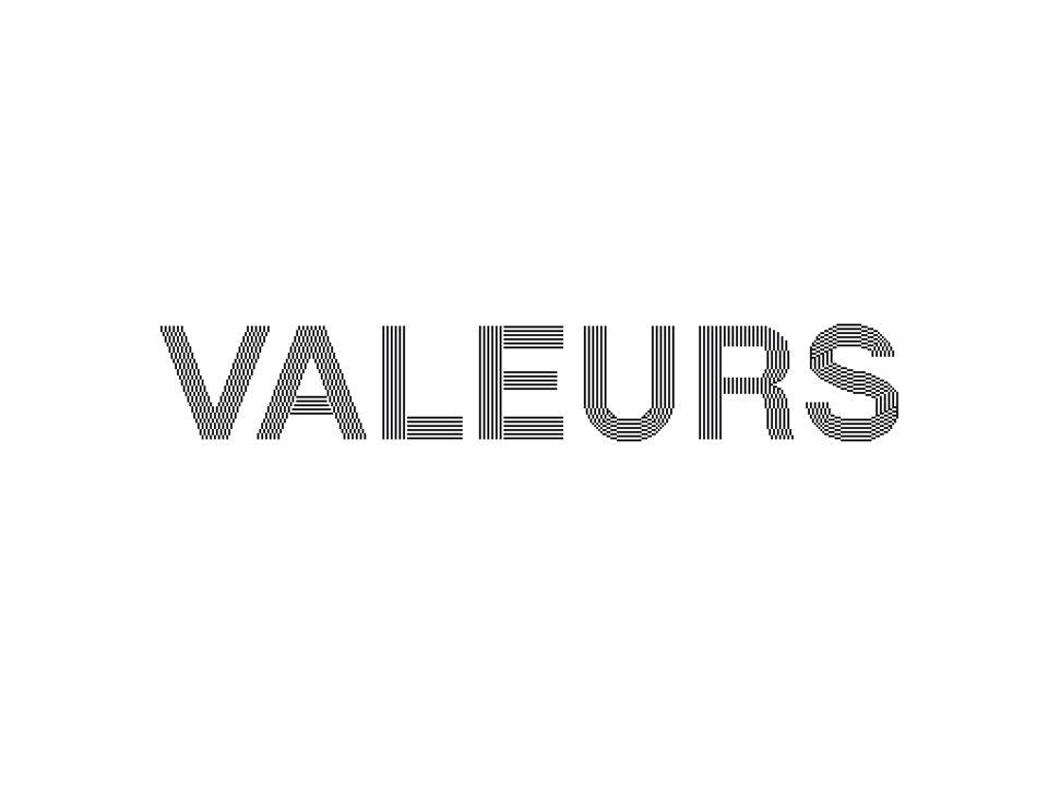 ) valeurs