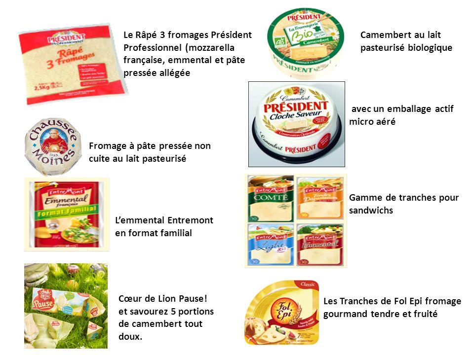 Le Râpé 3 fromages Président Professionnel (mozzarella française, emmental et pâte pressée allégée Camembert au lait pasteurisé biologique Fromage à p