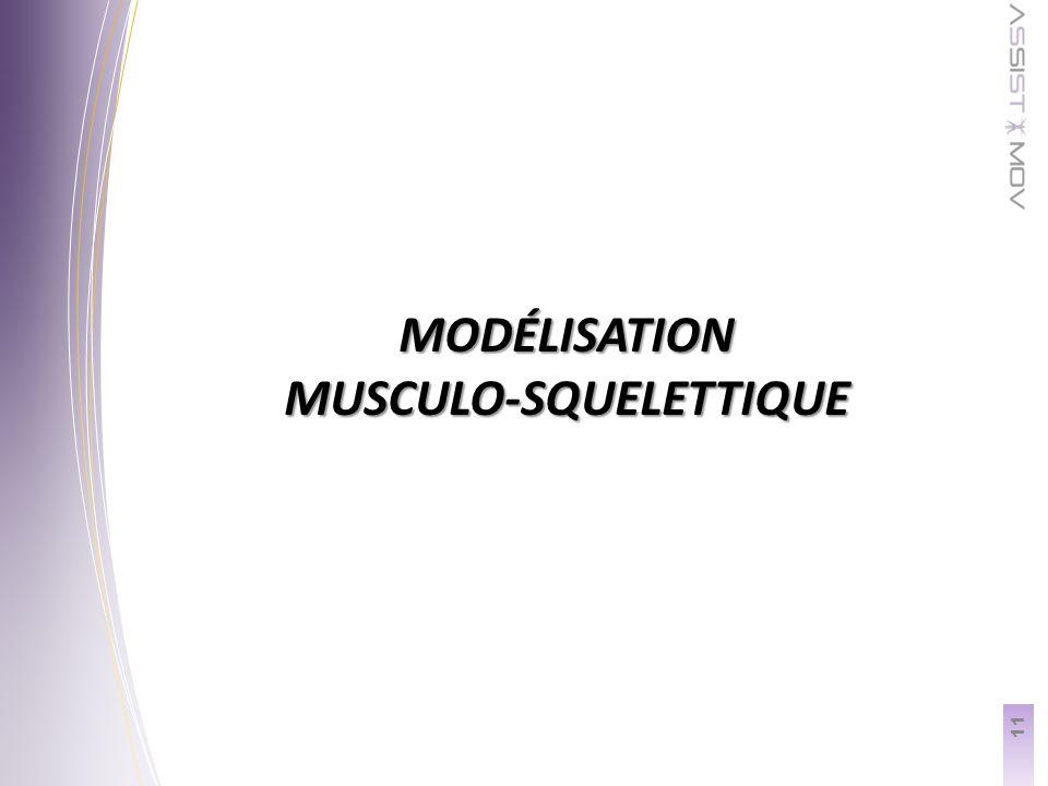MODÉLISATION MUSCULO-SQUELETTIQUE 11