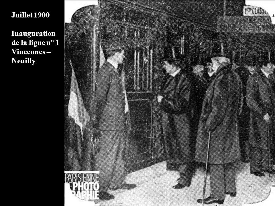 1900 Visite de chantier par Fulgence Bienvenue (le concepteur du métro parisien)