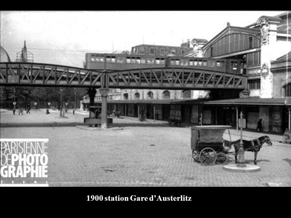1900 Fin de la construction du tablier métro dAusterlitz