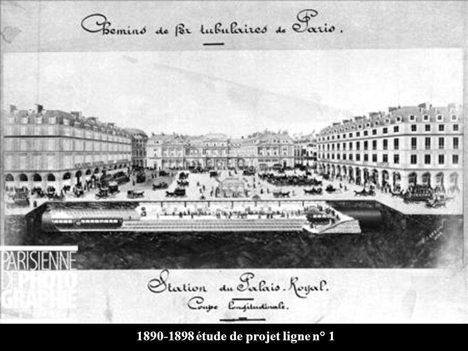 1890-1898 étude de projet ligne n° 1