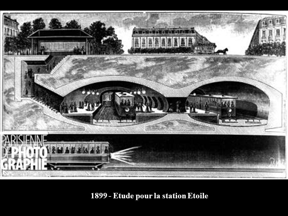 1899 - Etude pour la station Etoile
