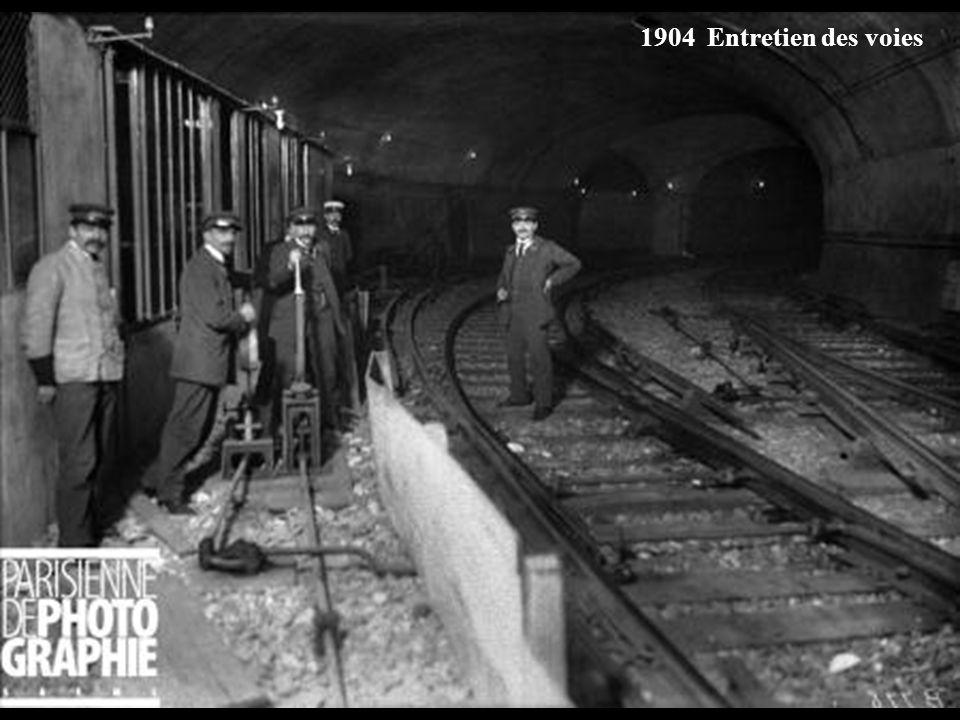 Mars 1902 Construction de la station Place Clichy