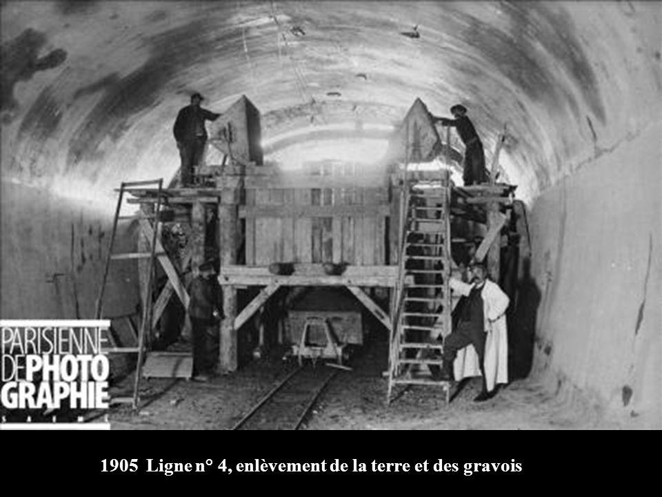 1905 Percement de la ligne n° 4