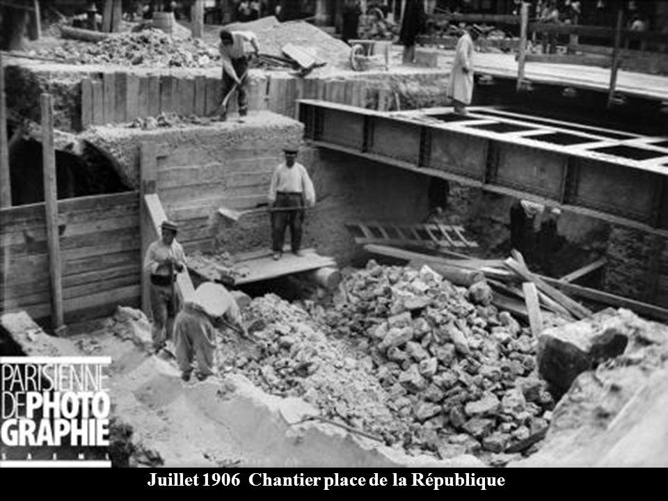 Juillet 1906 Travaux gare de lEst