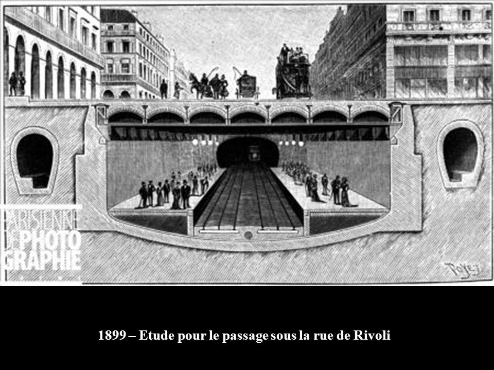 1925-1930 Reconstruction de la station Hôtel-de-Ville