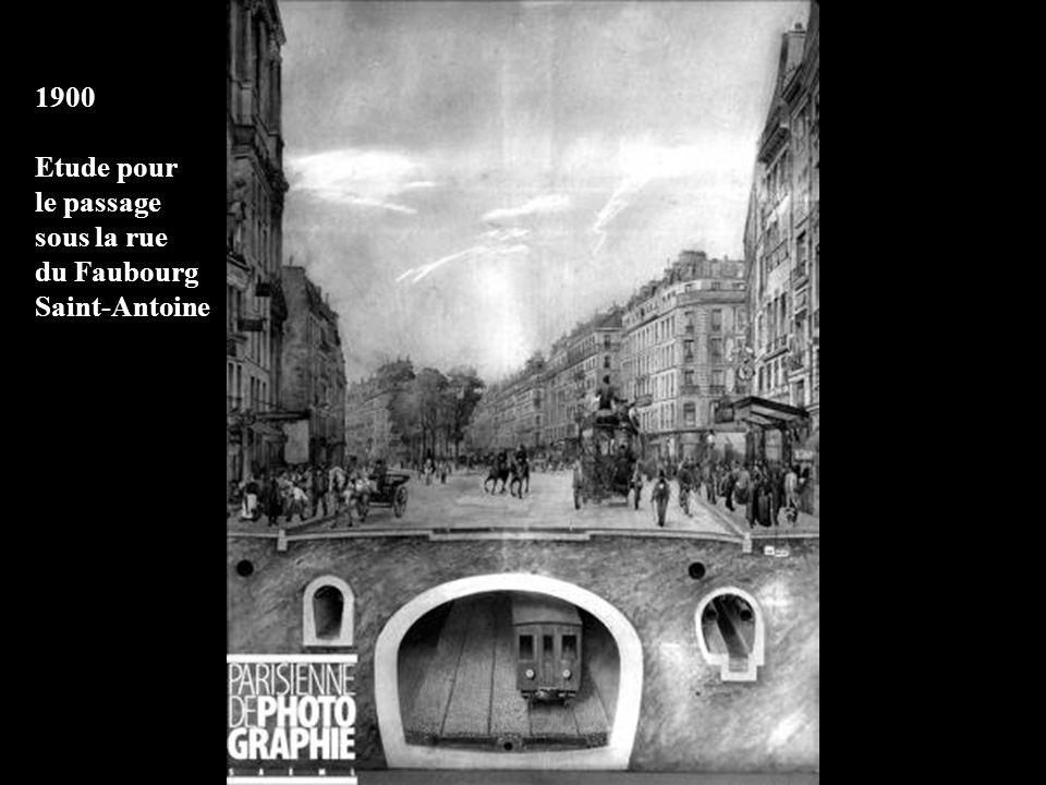 1900 – Construction dun caisson pour traverser la Seine