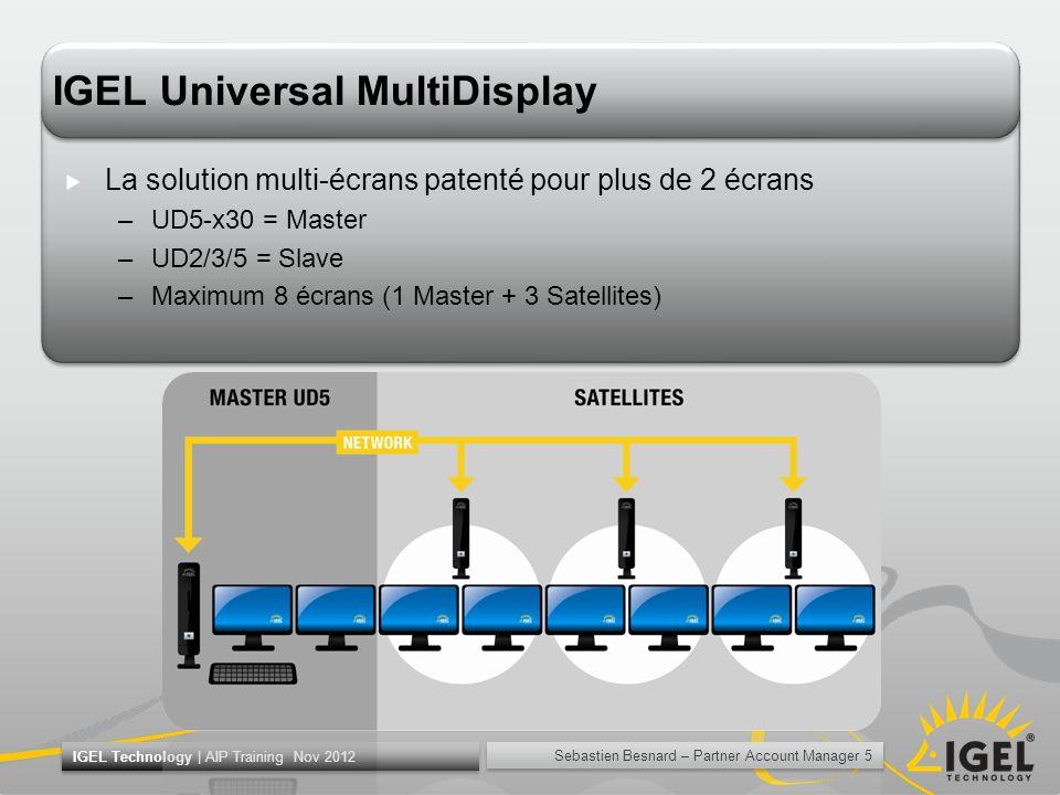 Sebastien Besnard – Partner Account Manager 5 IGEL Technology | AIP Training Nov 2012 IGEL Universal MultiDisplay La solution multi-écrans patenté pou