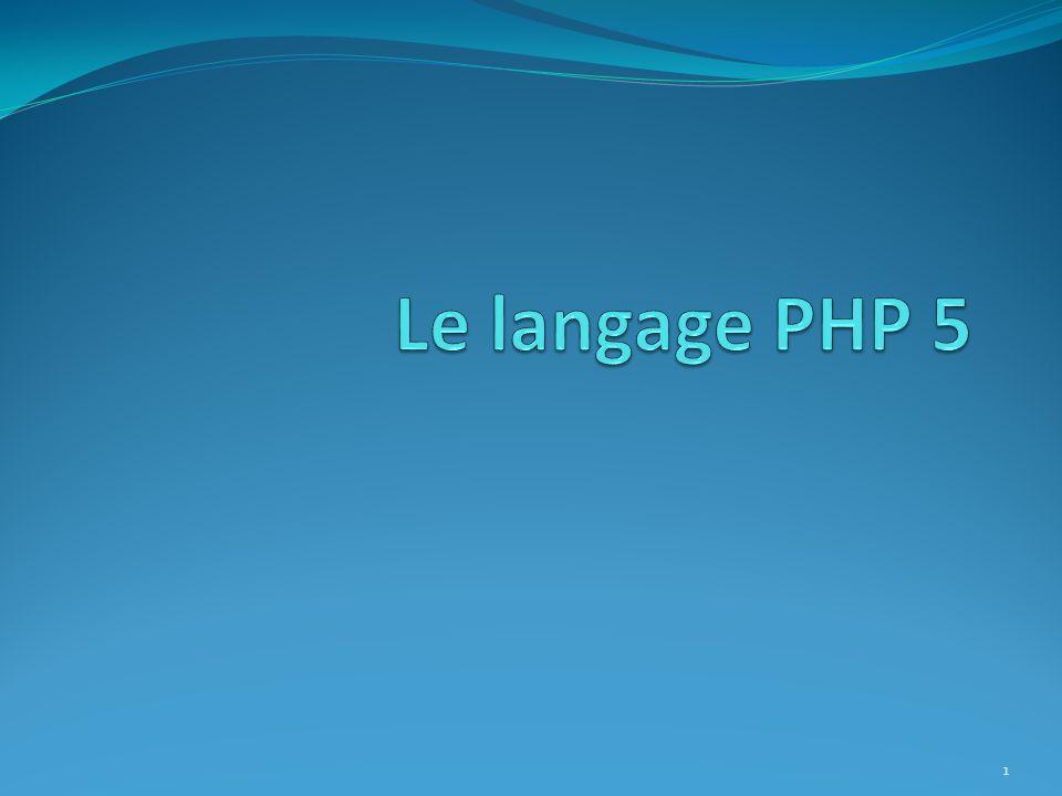 Les sessions 72 Conguration de PHP : Gestion du cache La valeur envoyée par PHP lors dune session est spéciée par la directive session.cache_limiter.