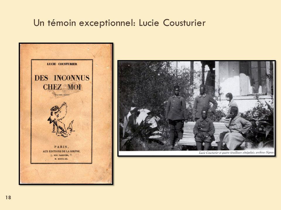 18 Un témoin exceptionnel: Lucie Cousturier