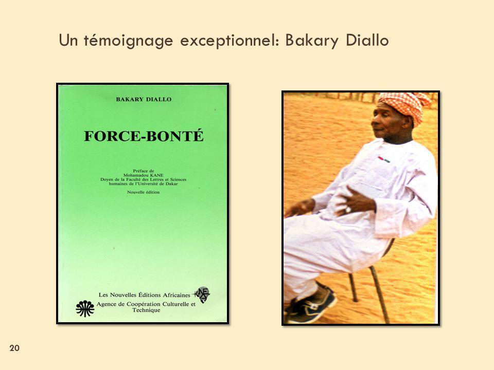 20 Un témoignage exceptionnel: Bakary Diallo