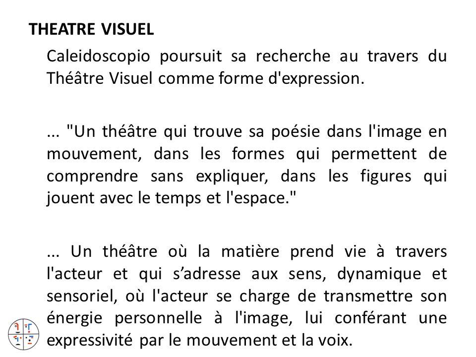THEATRE VISUEL Caleidoscopio poursuit sa recherche au travers du Théâtre Visuel comme forme d'expression....