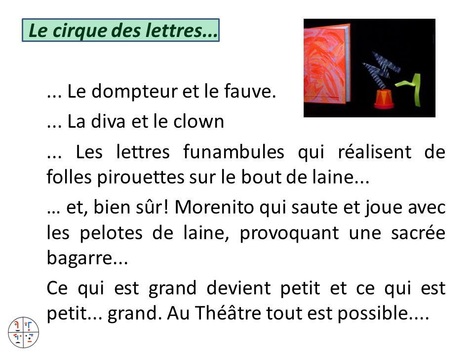 Le cirque des lettres...... Le dompteur et le fauve.... La diva et le clown... Les lettres funambules qui réalisent de folles pirouettes sur le bout d