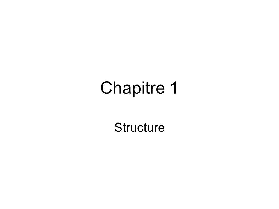 Chapitre 1 Structure
