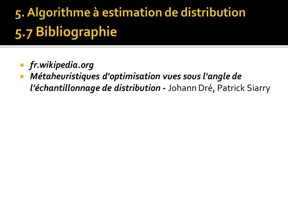fr.wikipedia.org Métaheuristiques d'optimisation vues sous l'angle de l'échantillonnage de distribution - Johann Dré, Patrick Siarry