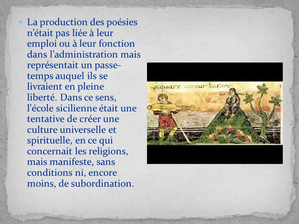 La production des poésies nétait pas liée à leur emploi ou à leur fonction dans ladministration mais représentait un passe- temps auquel ils se livrai