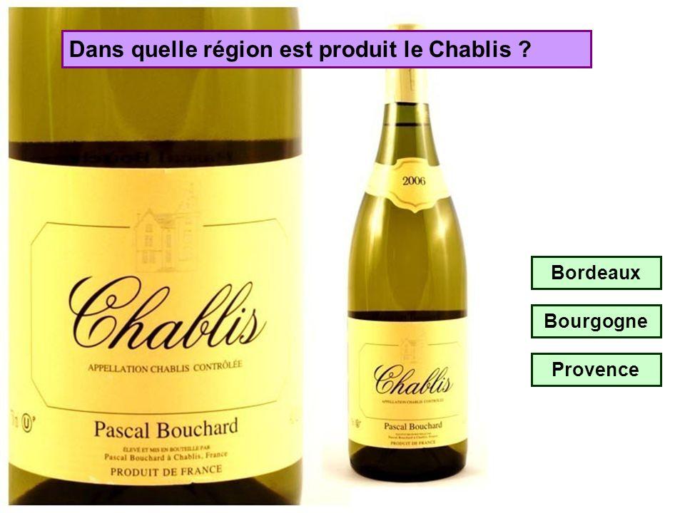 Dans quelle région est produit le Château Lafite ? Beaujolais Bordeaux Bourgogne