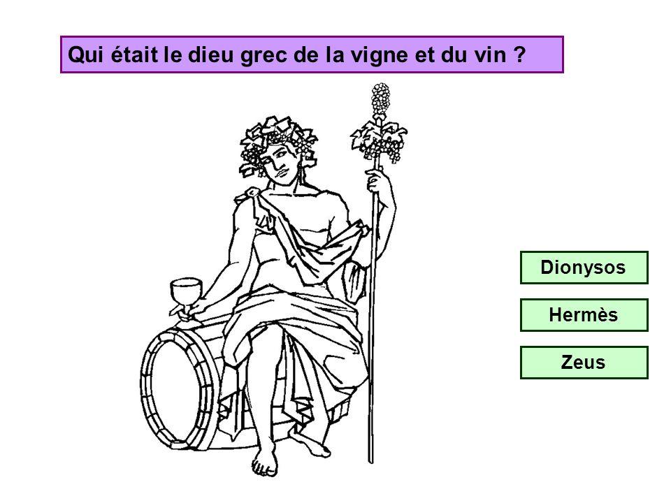 Qui était le dieu romain du vin ? Bacchus Cupidon Vulcain