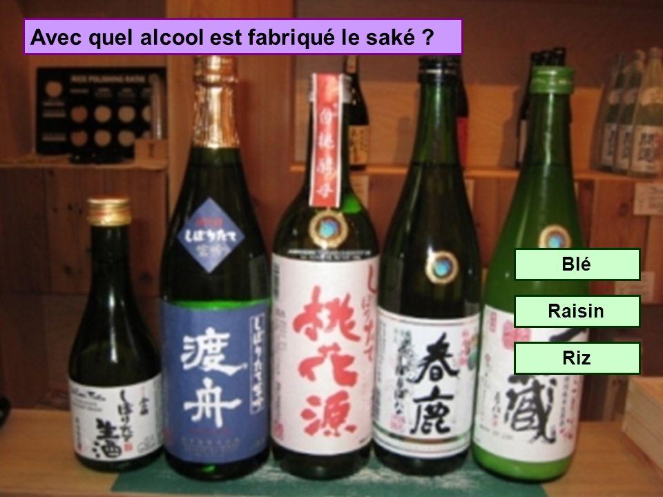 De quel pays provient le saké ? Brésil Japon Sénégal